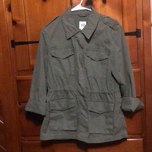 Worn 1x! GAP women's military / utility jacket